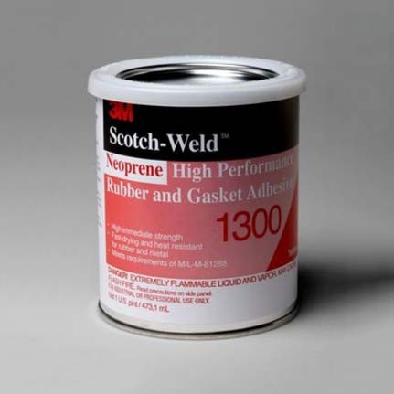 3M 1300 Neoprene High Performance Rubber and Gasket Adhesive Yellow 1 pt Can