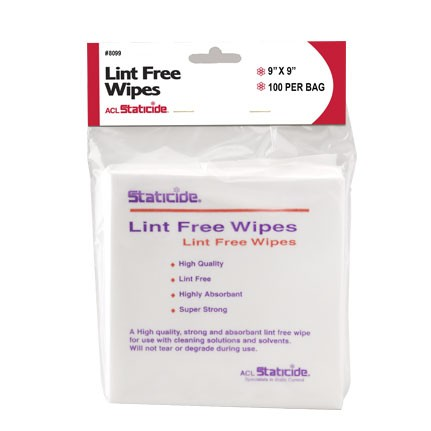 ACL Staticide 8099 Lint Free Wipes 9 in x 9 in