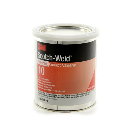 3M 10 Neoprene Contact Adhesive Light Yellow 1 qt Can