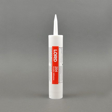 LORD® 204 Acrylic Adhesive Base Off-White 0.1 gal Cartridge