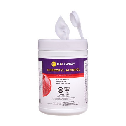 Techspray 1610 Isopropyl Alcohol Pre-Saturated Wipes
