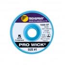 Techspray 1808 Pro Wick Desoldering Braid White 5 ft